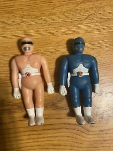 Vintage Soma Sonic Rangers Action Figures Power Rangers Pink & Blue VERY RARE
