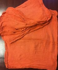 100 orange industrial shop rags towels free shipping 14/'/'x13/'/'