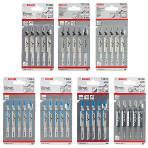 UK Drills Jigsaw Blades for Metal Set of 5 Similar to Bosch T118G