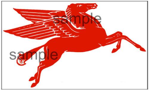 "MOBIL GAS OIL DECAL 8/"" RIGHT FACING  PEGASUS HORSE"