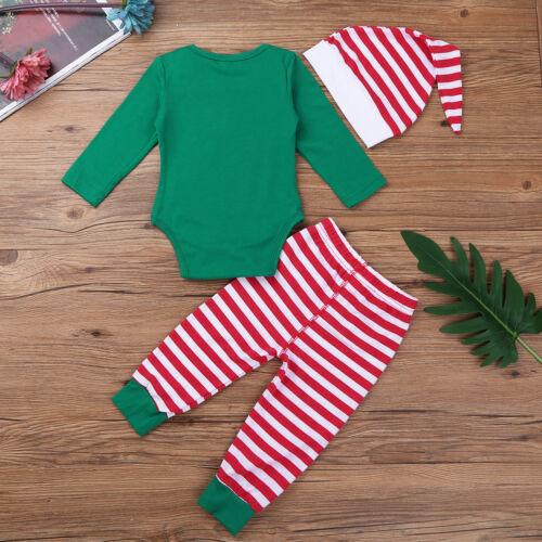 Newborn Baby Boy Girl Christmas Xmas Elf Fancy Dress Costume Party Outfits 0-12M