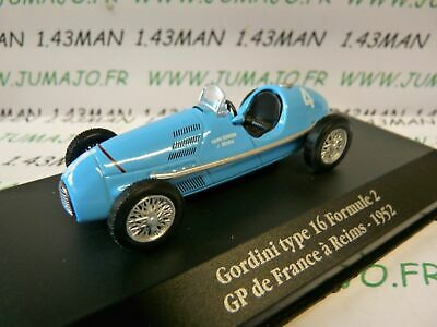 GORDINI TYPE 32 FORMULE 1 GP DE REIMS 1956 1//43 ATLAS ELIGOR NEUF BOITE D/'OR...