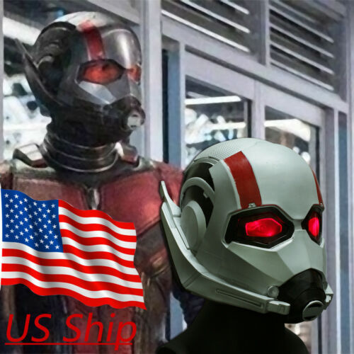 2019 Ant Man LED Helmet Cosplay Ant-Man and The Wasp Superhero LED Mask Latex