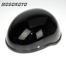 Black Skull Cap Novelty Motorcycle ABS Shell Half Helmet Cap For Cruiser Harley