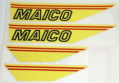 2x Maico Mc Gs 1983 Pepper Serbatoio Adesivo 2x Coperchio Pagine-adesivi Nuovo-ufkleber Neu It-it I Colori Stanno Colpendo