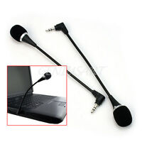 2stk. Mini Mikrofon 3.5mm Stereo für PC Notebook Desktop-Zubehör Microphone Neu