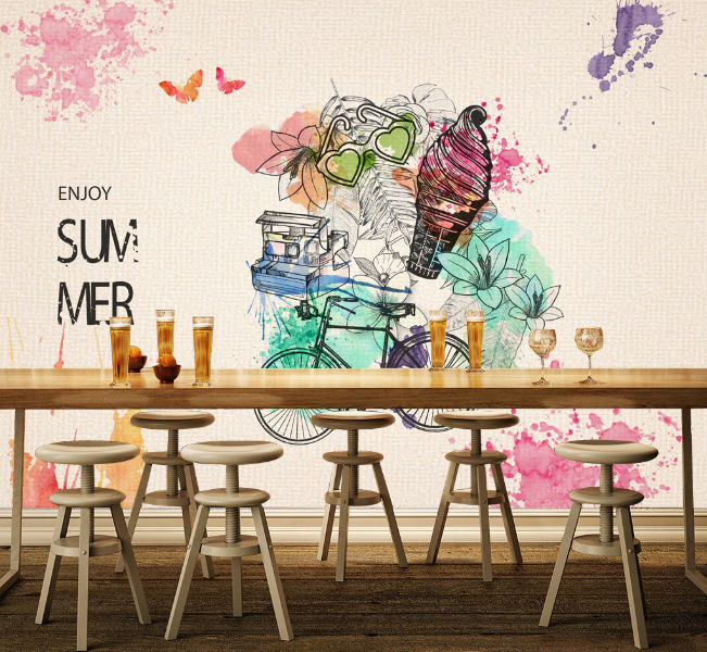 3D Summer Theme 868 Wall Paper Murals Wall Print Wall Wallpaper Mural AU Kyra