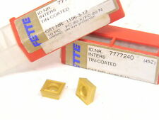 14 NEW SURPLUS FETTE CARBIDE INSERTS ID#777240 TIN COATED 45Z CAT. NR. 1196-3-12
