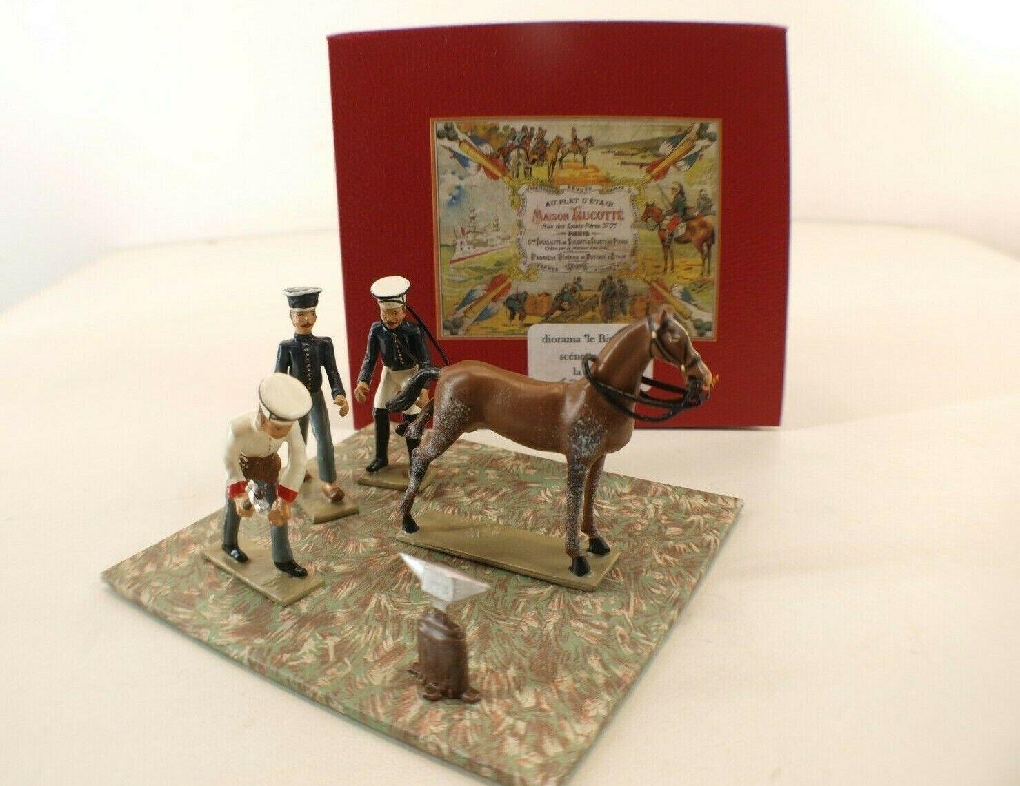 Lucotte Cbg Schatulle Diorama Le Bivouac Scénette 05 La Forge Napoleon Selten