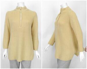 Womens-Bottega-Elisa-Cavaletti-Merino-Wool-Knit-Sweater-Jumper-Beige-Size-M