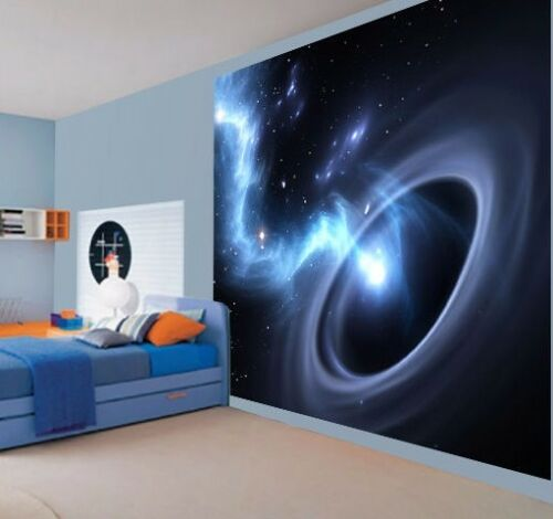 Cool black hole worm hole space universe wallpaper wall mural 41963061