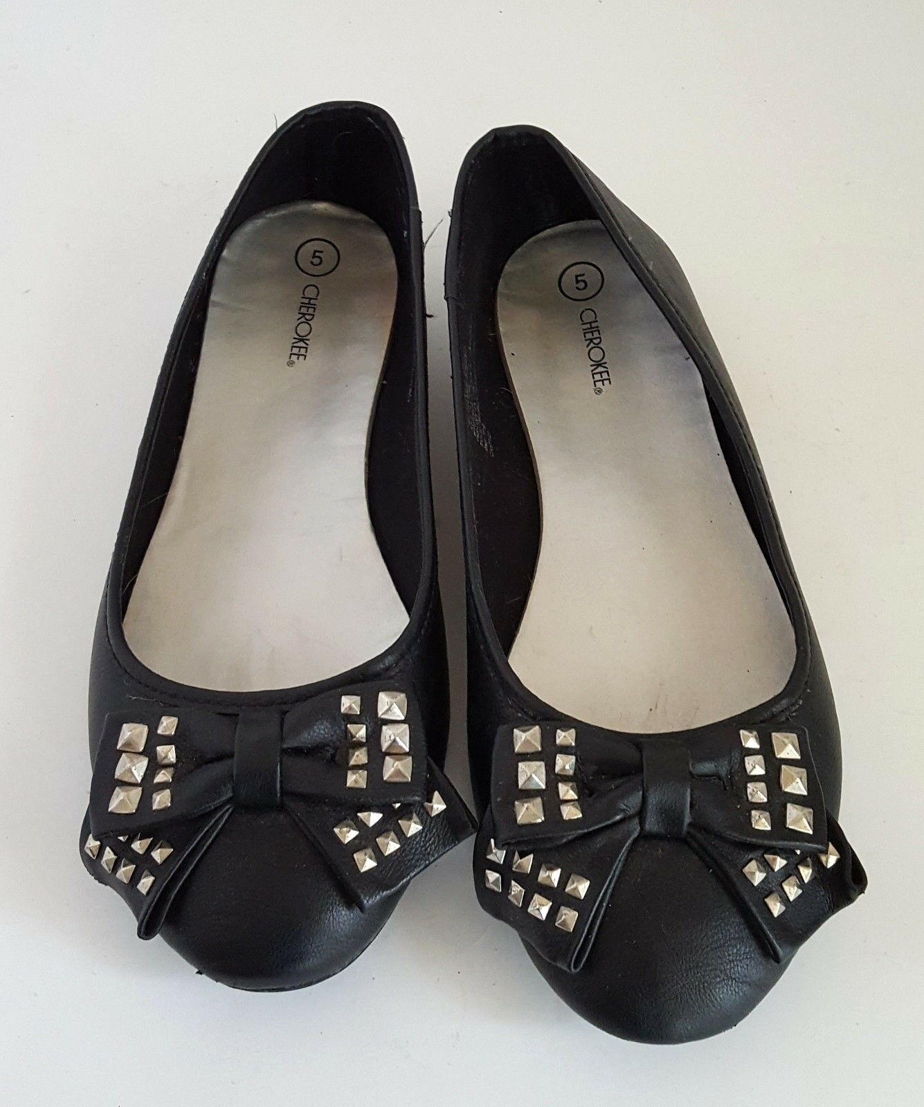 Cherokee Size Design 5 Black Flats Bow Design Size 8ec815
