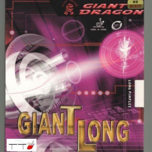 Giant Dragon géant long Boutons Long Table Tennis Rubber Ox Noir