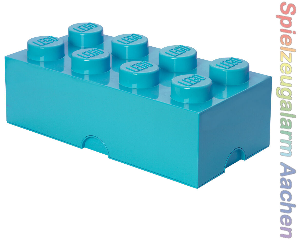 LEGO Storage Brick 8 AZUR Stein 2x4 Aufbewahrung Dose Box Kiste 8 Knobs