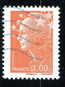 TIMBRE-FRANCE-N-4235-OBLITERE-MARIANNE-DE-BEAUJARD