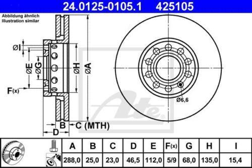 2x Unités antithrombine Disques de frein avant audi a4 a6 Seat Exeo Skoda exquise