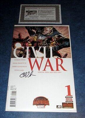 CIVIL WAR #1 signed variant 1st print SECRET WARS CHARLES SOULE skottie young