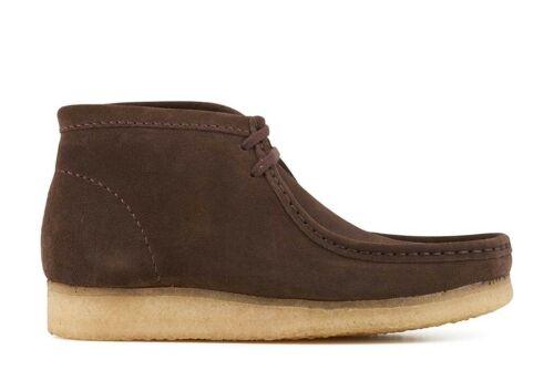 Clarks Originals Men ** WALLABEE BOOTS ** Dark Brown Suede ** UK 7,8,9,10,11 G