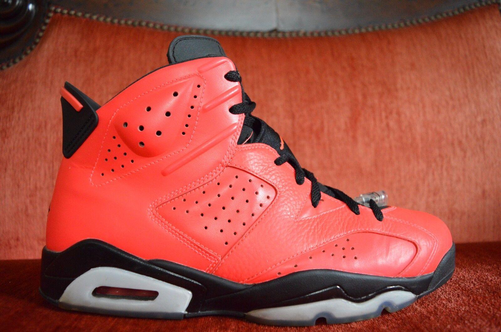 Nike air jordan 6 vi infrarossa infrarossi 23 toro nero taglia 12 9 / 10 rosso