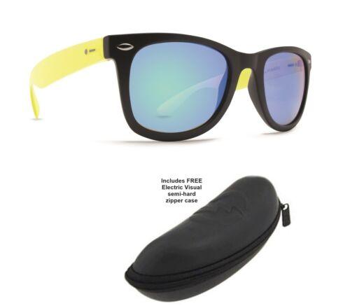 Electric Case PDSF $42 Nouveau Dot Dash Plimsoul Blue Mirror Square Lunettes de soleil