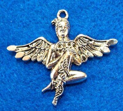 5Pcs Tibetan Silver Large Snake FAIRY Angel Charms Pendant Drops Finding AA12