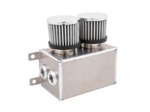 Fabricated-Aluminium-Baffled-Motor-Oil-Catch-Can-8AN-10AN-1-2L-amp-Filter-Silver