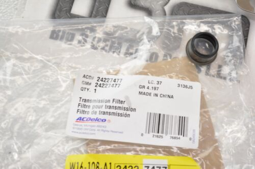 ACDelco Automatic Transmission Fluid Filter Kit Original GM new OEM 24227477