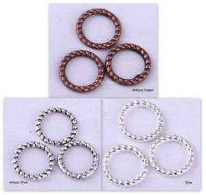 200pcs-Tibetan-Silver-HQ-Twist-Ring-Beads-Charms-Connectors-8mm