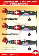 KORA Decals 1/48 MESSERSCHMITT Bf-109E-3A EMIL Swiss Air Force Part 2