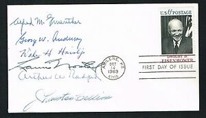 Norstad, Gruenther, Collins, Anderson Haislip & Radford signed autograph FDC