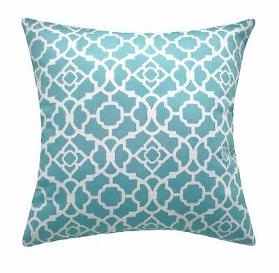 Vintage Nouveau Lovely Lattice Aqua Decorative Throw Pillow