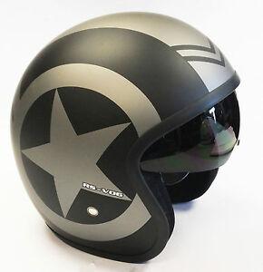 Viper-RS-V06-RS-06-Ouvert-Scooter-Moto-Retro-Casque-Modele-Jet-Gris-Star