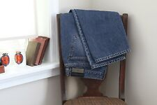 Dolce Gabbana Basic Jeans Blue Cotton Denim 37W 30L Made in Italy Fade Mens 54EU