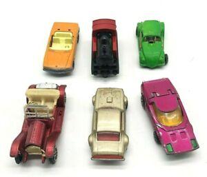 Lote-de-6-Autos-De-Juguete-Vintage-5-Matchbox-1-Stutz-Hong-Kong-Inglaterra-1970s