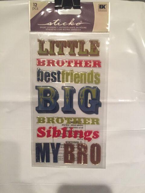 Sticko Epoxy Stickers Big Brother NEW