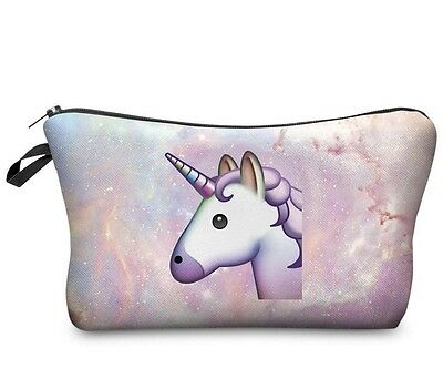 cosmetic makeup bag many styles, Unicorn, emoji, flamingo, 3d dog