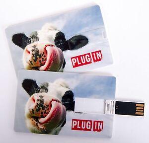 Details Zu Usb Stick 4 Gb Scheckkartenformat Kreditkarte Visitenkarte Lustige Kuh Plug In