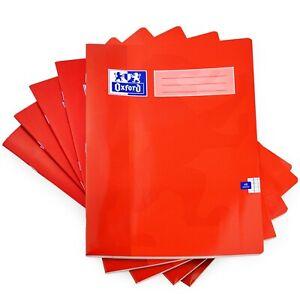 Oxford-A4-Schule-Training-Mathe-Buch-5mm-Quadrate-48-Seiten-Rot-5