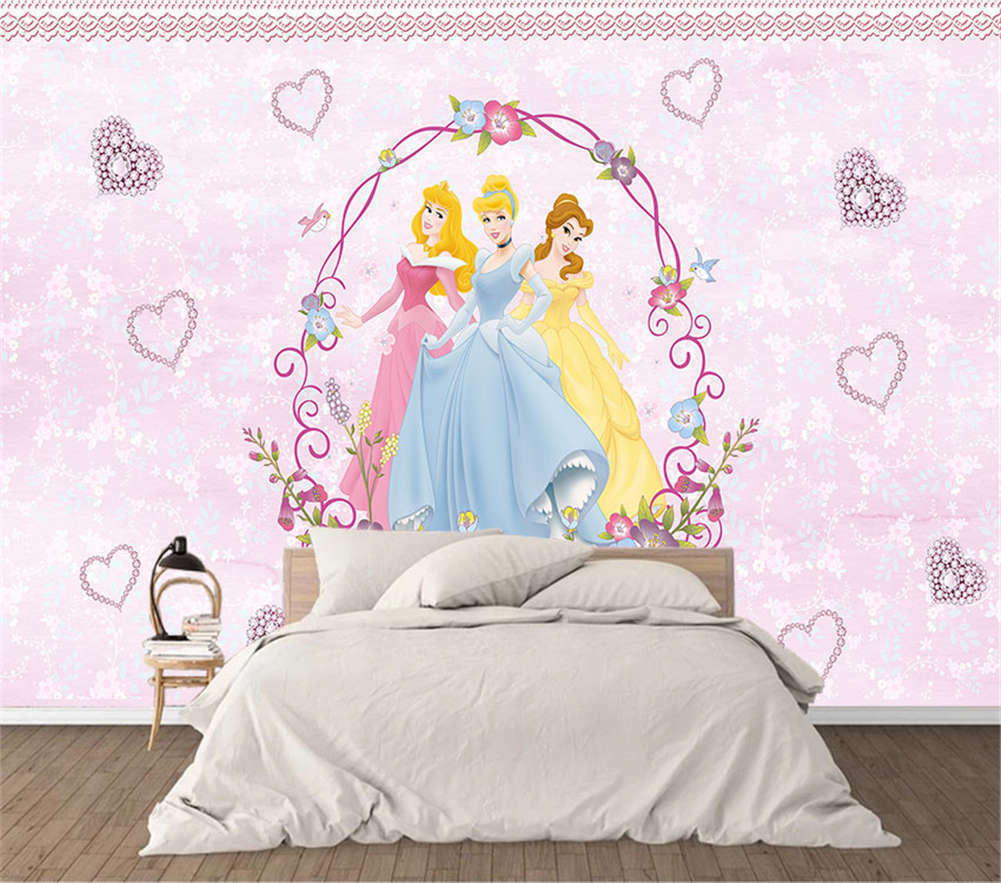 Barbie Princess 3D Full Wall Mural Photo Wallpaper Printing Home Kids Decor