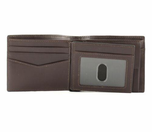 FOSSIL Darcy Large Coin Pocket Bifold Geldbörse Dark Brown Braun Neu