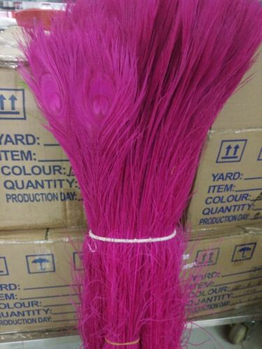 10-500pc Quality Beautiful Natural Peacock Feather 32-36inch//80-90cm Wholesale