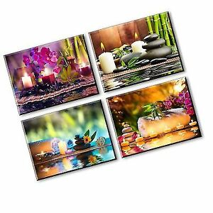 Zen Canvas Wall Art Spa Treatment Picture With Bamboo Stone