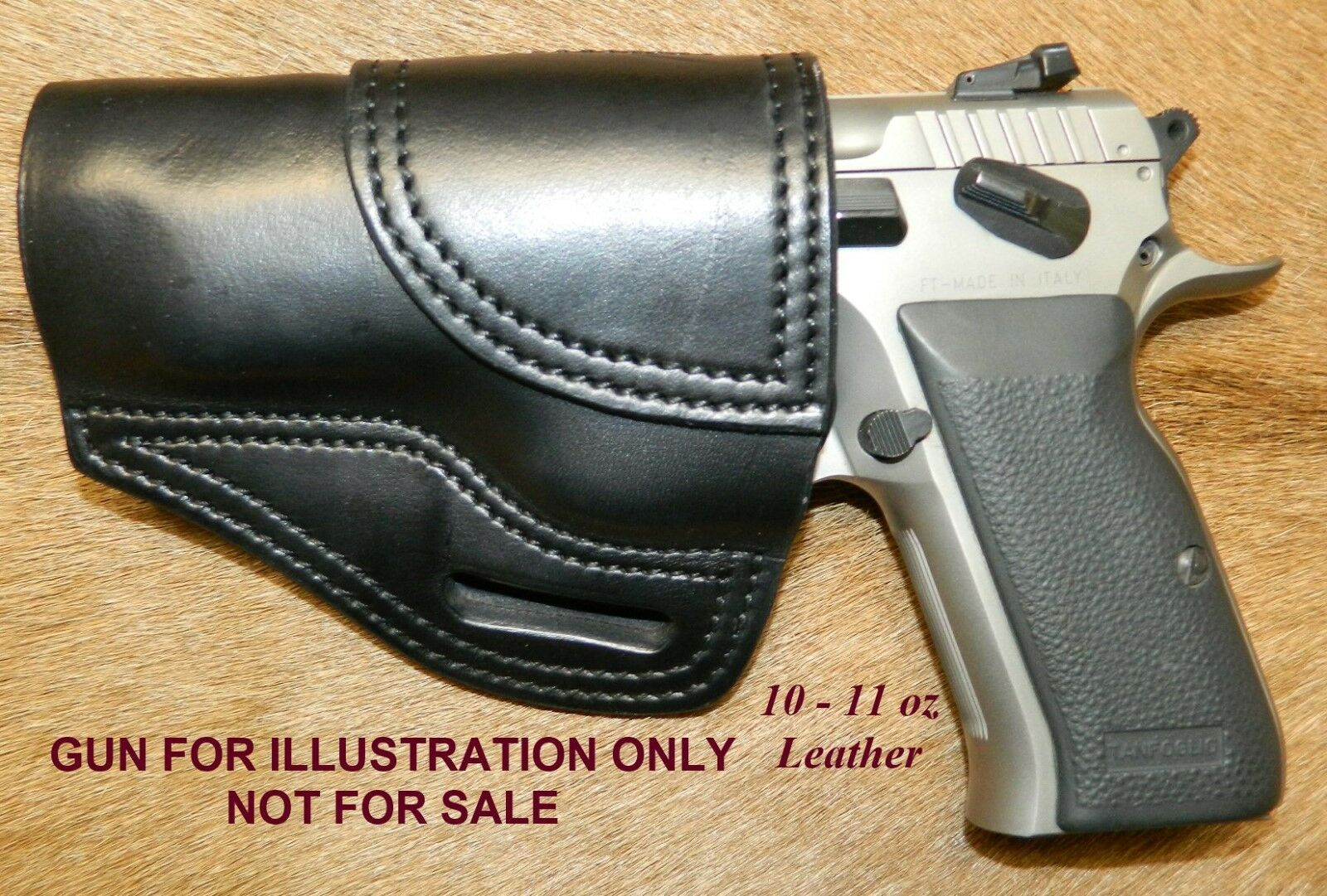 Gary C's OWB Avenger  XH  LEFT HAND Leather HOLSTER EAA Witness FS Steel w Rail