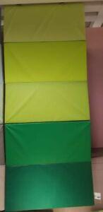 TOP-IKEA-PLUFSIG-Gymnastikmatte-faltbar-78x185-cm-Turn-Spielematte-Matte-gruen