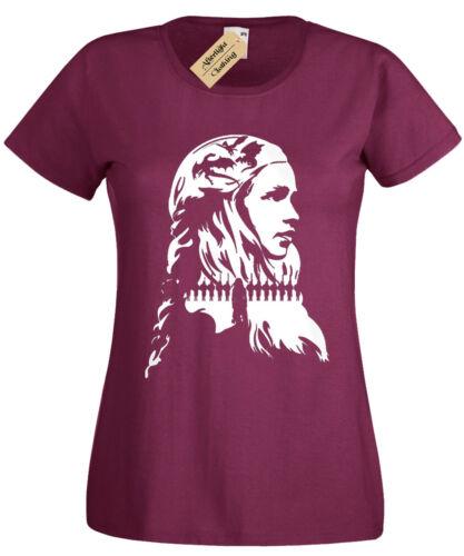 Queen Khaleesi Damen T-Shirt Drachen Damen Spiel Schnee Jon