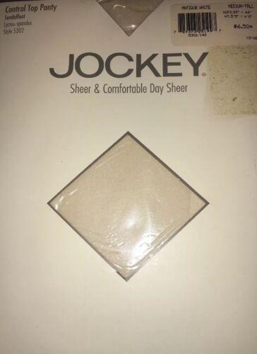 Jockey Sheer And Comfortable Antique White Medium Tall Pantyhose Nylons 5302