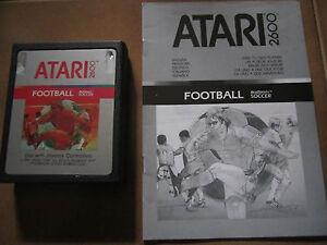 Gioco-per-Atari-2600-FOOTBALL-Cartuccia-istruzioni