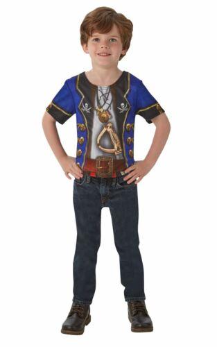 Pirate Tshirt Boy/'s Fancy Dress Costume
