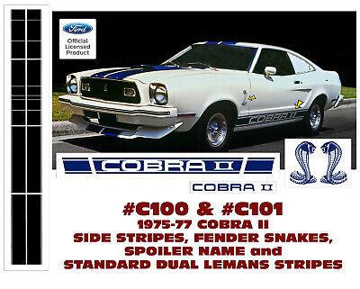 COBRA II LEMANS DUAL STRIPE KIT C100 1975-77 FORD MUSTANG STANDARD
