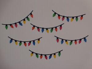 6 strings of Christmas light scrapbooking die cuts greeting card die cut